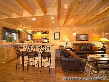 5 bedroom cabins in pigeon forge tn for Two bedroom cabins